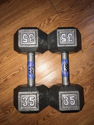 Cast Iron Hex Dumbbell(35lbs) for Sale in North Las Vegas, NV