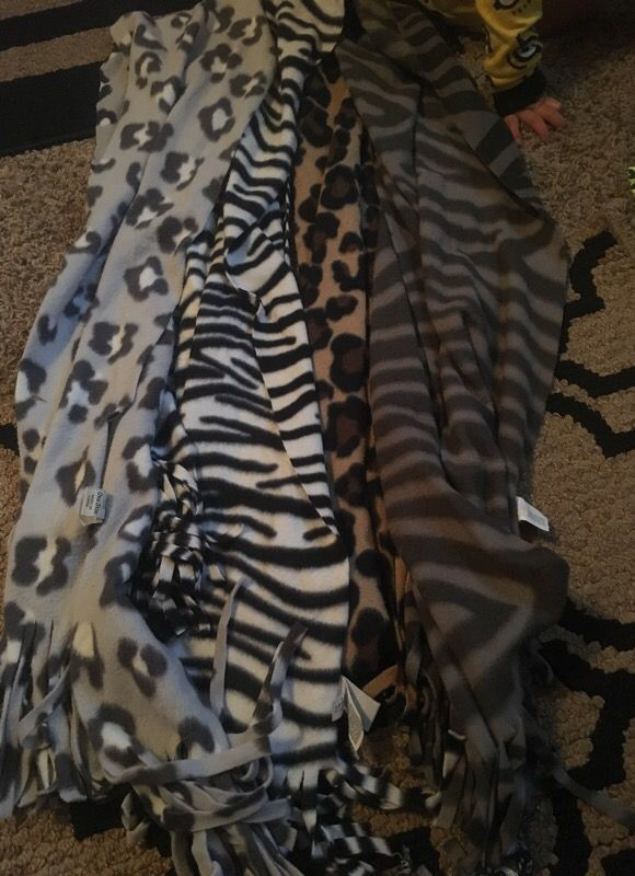 Zebra and cheetah scarves $12 for all