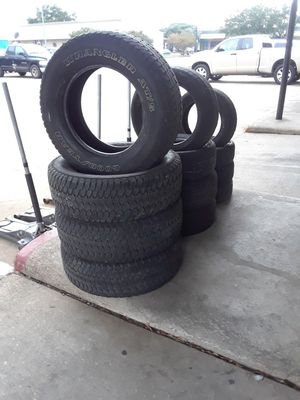 Used tire set 15.16.17.install and balanced for Sale in Houston, TX