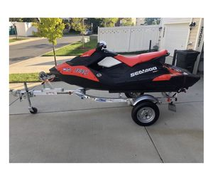 2017 Seadoo Spark Jet Ski with Trailer 19 Hours for Sale in Clarksburg, MD