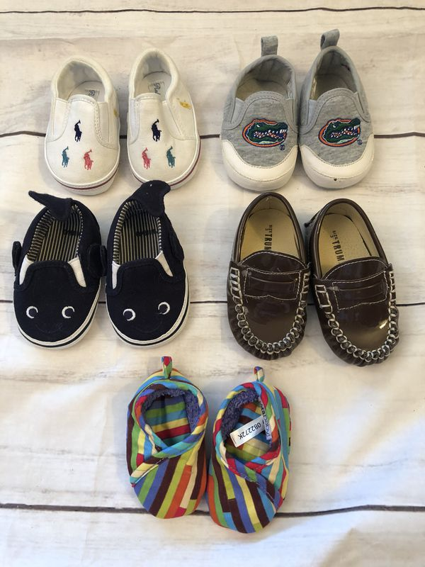 Baby boy shoe lot various sizes, cute sharks Gymboree ...