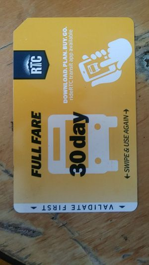 Rtc bus pass 30 day never used for Sale in Las Vegas, NV