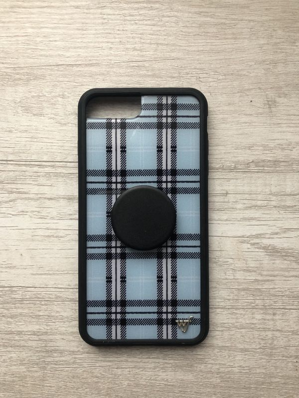 brand new 926fd 418c6 Wildflower Case Blue Plaid iPhone 6/7/8+ for Sale in Escondido, CA - OfferUp