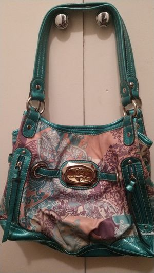359f4ddbbb41 Teal and purple Kathy Van Zeeland purse for Sale in Chino