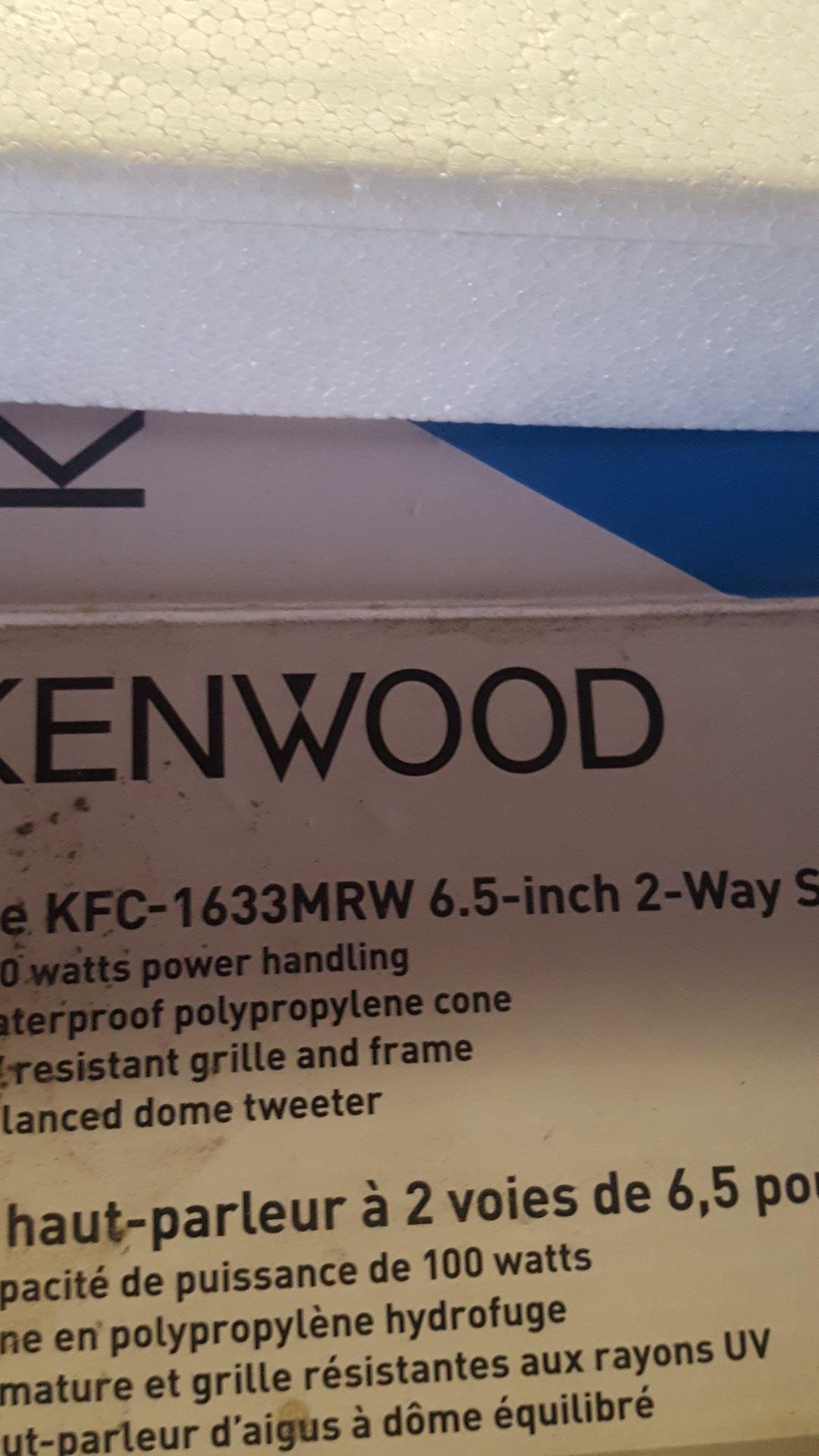Kenwood 6.5 2way speakers