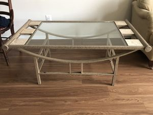 Stainless Steel and Glass Table w/ Marble Tiles for Sale in Arlington, VA