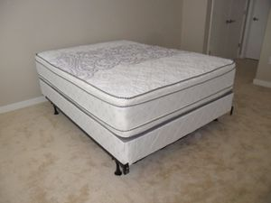 New queen size pillowtop mattress and box spring for Sale in Kensington, MD