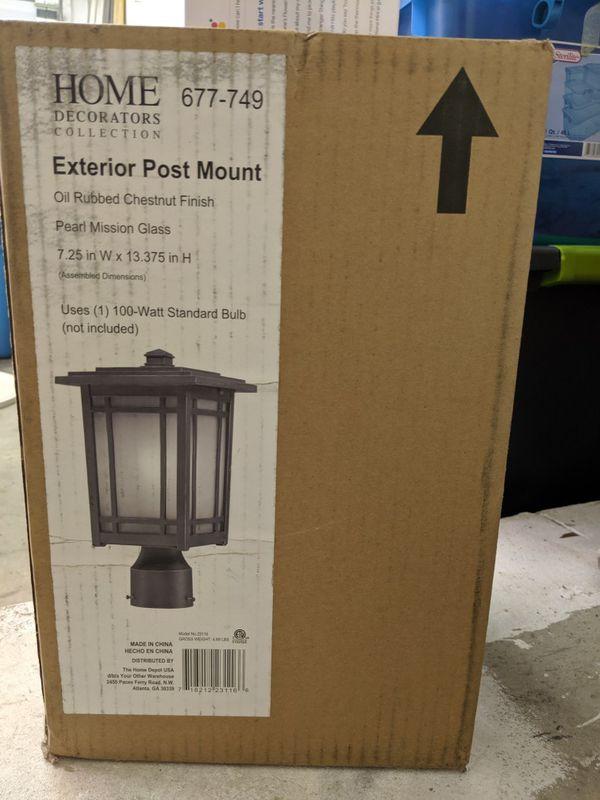 One Home Decorators Exterior Post Lantern Light Fixture