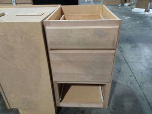Base Cabinet 3 Drawer Unfinished Oak for Sale in Phoenix, AZ
