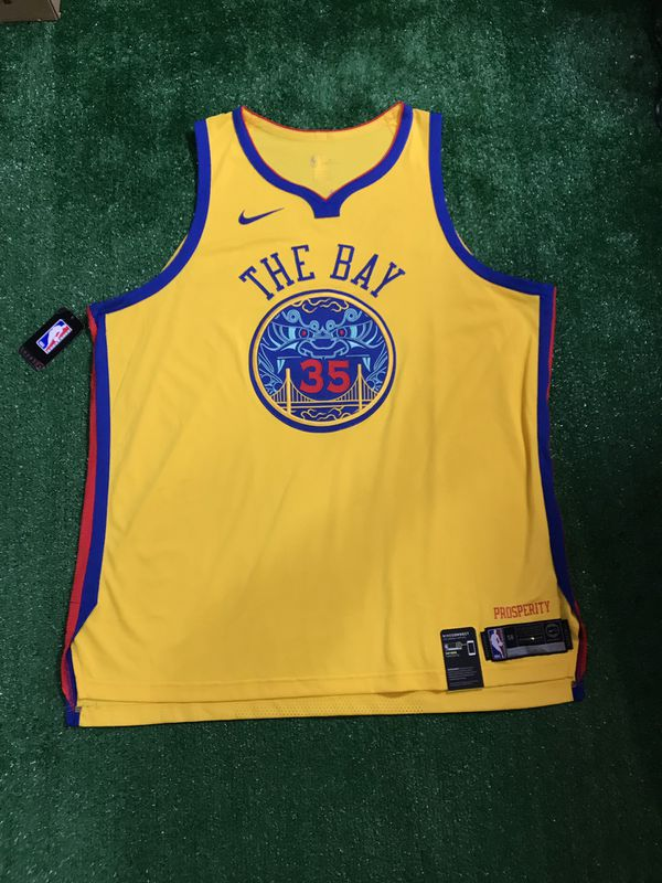 newest 52a90 4a2af Golden state warriors the bay Durant jersey new! for Sale in Redwood City,  CA - OfferUp