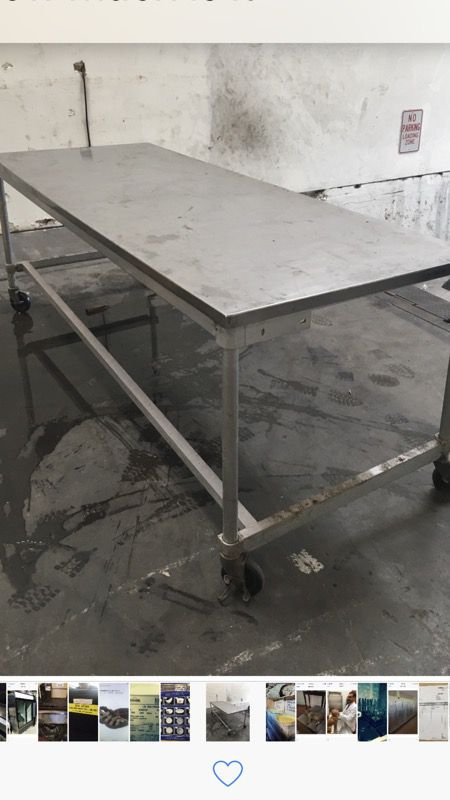 Stainless Steel 8 Foot Table Heavy Duty For In San