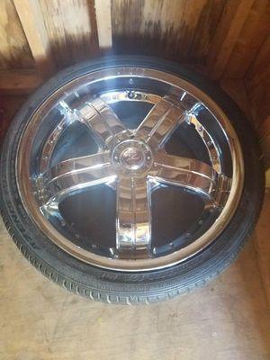 Rims & Tires .....size 20 5 lugs Rines y llantas numero 20 de 5 0llos universales for Sale in Sterling, VA