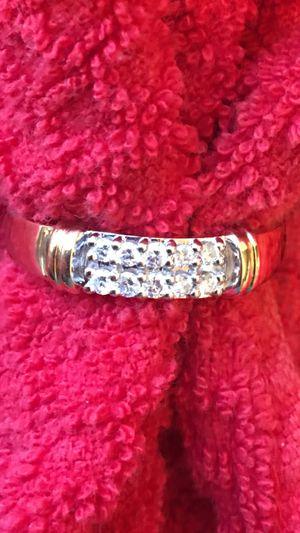 Photo ❤️Men's Diamond 10k Double Row Ring, Size 10, Yellow Gold❤️