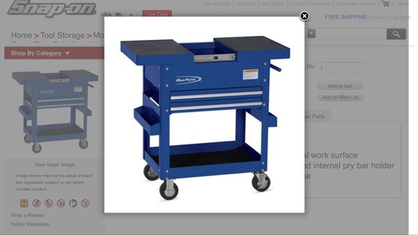 blue point/ snap on tool cart semi new for sale in cambridge, ma ...