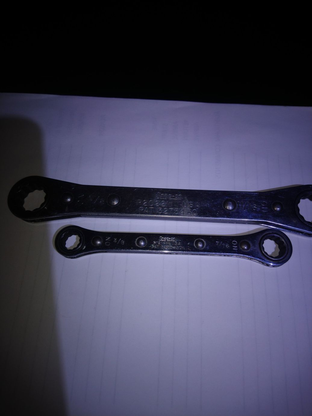 Snap on size 11/16 5/8 & 3/8 & 7/16