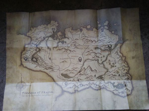Skyrim Collector's Edition Map for Sale in Stockton, CA - OfferUp on elder scrolls tamriel map, modders skyrim map, skyrim collector's edition map, uesp skyrim map, google skyrim map, the elder scrolls v skyrim map, printable skyrim map, skyrim ingame map, minecraft skyrim map, skyrim road map, dark brotherhood skyrim map, drawings of skyrim map,
