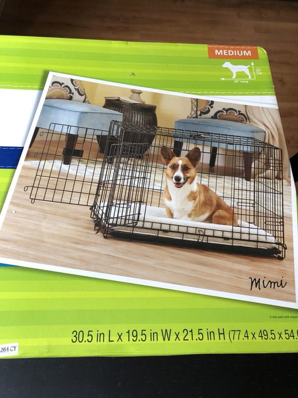 30 Top Paw Double Door Folding Crate For Medium Size Dogs Pet