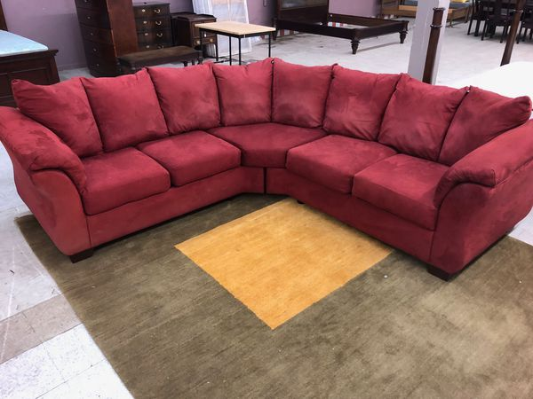 Red sectional sofas couch ashley furniture for Sale in ...