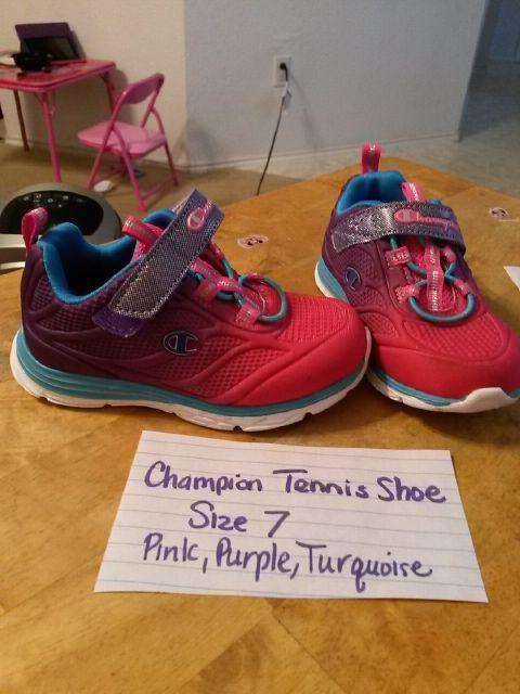 557b0fcee Champion girls tennis shoes purple