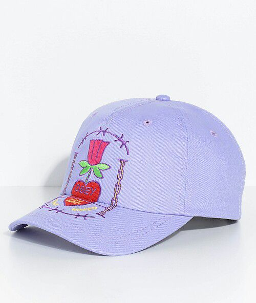 846eb3a6a3884 Obey Hailey Lavender Baseball Snapback Unstructured Hat Curved Bill ...