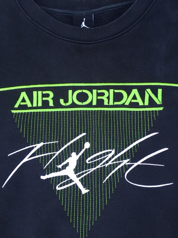 Vintage Nike Air Jordan Flight Black Crew Neck Sweater Size Large For Sale In San Diego CA