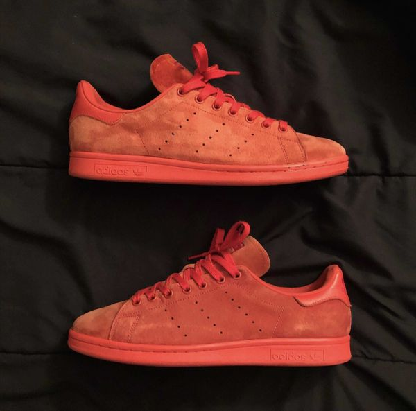 new products e7734 e5500 Red suede Adidas Stan Smith size 11 for Sale in Winter Garden, FL - OfferUp