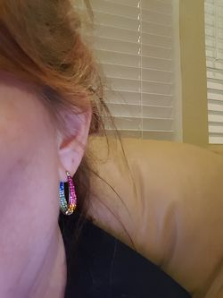 Swarovski Crystal multi-colored earrings Thumbnail