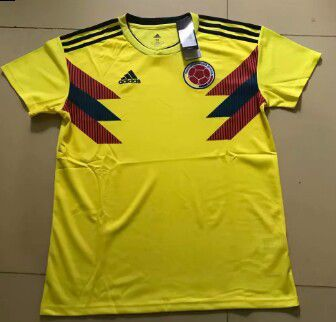 eb5ef2e3946 Colombia world cup 2018 home soccer jersey climalite authentic adidas