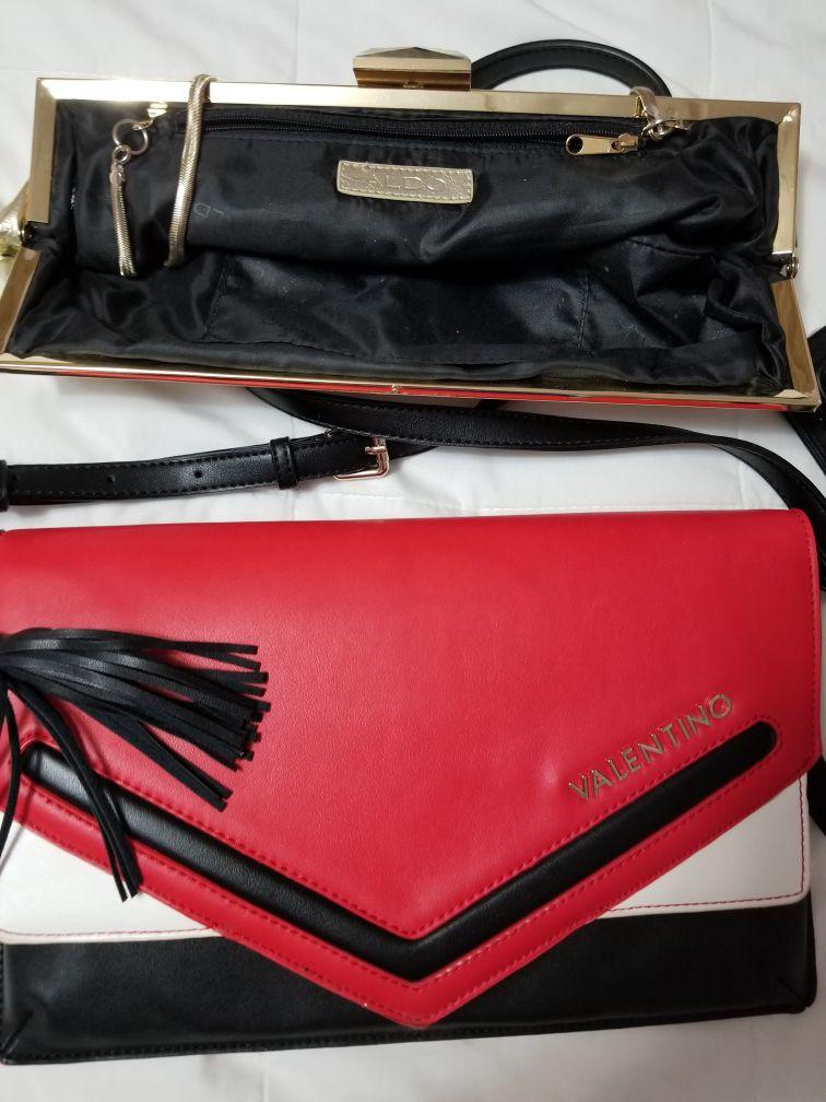 One valentino purse n one aldo gold.