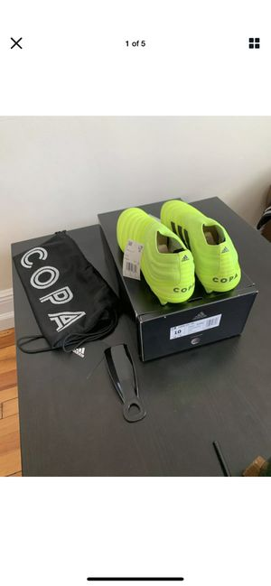 Photo Adidas Copa 19+ FG Men's Soccer Cleats Football Shoes Size 10 Solar Yellow. Condition is New with box