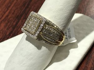 Diamonds Initial 10k Yellow Gold Real Diamonds No Credit Check