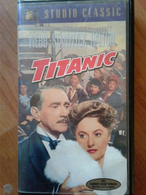 Titanic vhs perfect condition, used for sale  Tulsa, OK