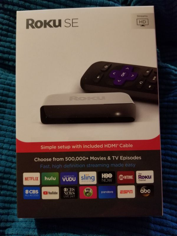 Roku SE High Definition Streaming Player with Remote HDMI Cable Included  for Sale in Riverside, CA - OfferUp