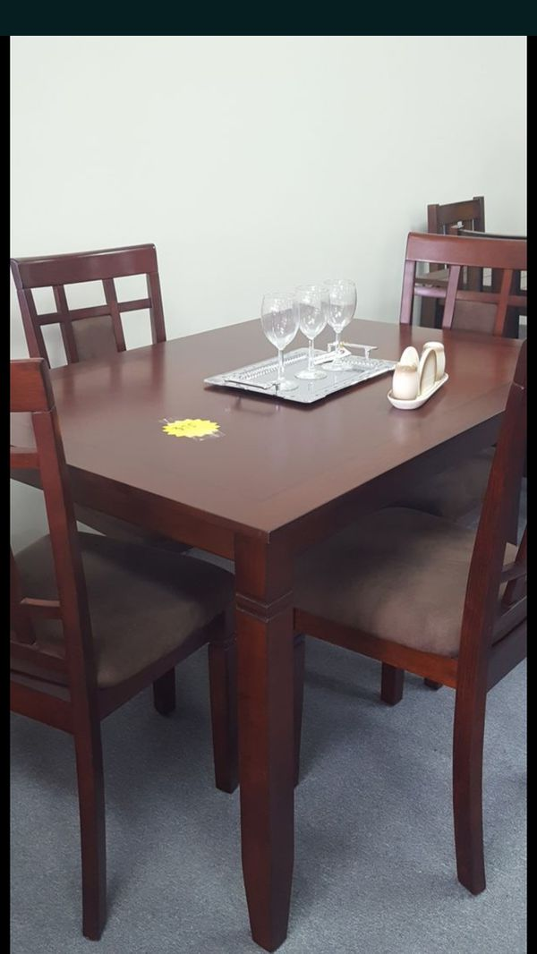 SOLID WOOD DINETTE SET For Sale In Columbus OH OfferUp - Solid wood dinette table