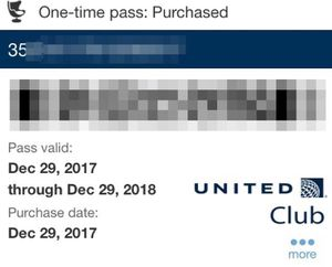 United Airlines Club Pass for Sale in Washington, DC