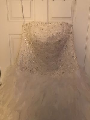Full figure wedding gown (18-22) for Sale in Clermont, FL