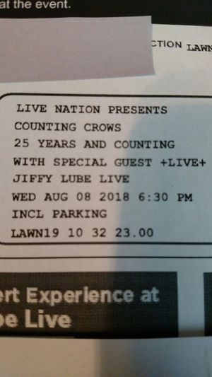 2 Lawn Tickets Counting Crows & Live for Sale in Manassas, VA