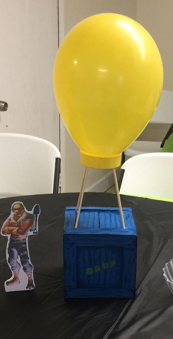 Birthday Fortnite Drop Box Centerpiece Candy Balloons For Sale In