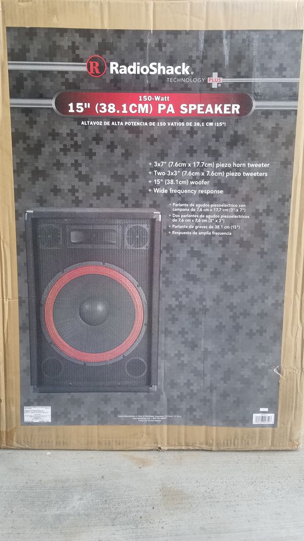 2 Radio Shack PA Speakers (x 2) - 150 Watts RMS per ou'reSpeaker / 300W Max  Power for Sale in Chula Vista, CA - OfferUp
