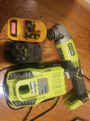 RYOBI Angle Grinder with 2- 18Volt batteries fast charger for Sale in Fairfax, VA