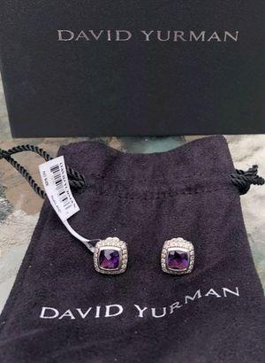 David Yurman Albion amethyst diamond earrings for Sale in Aldie, VA