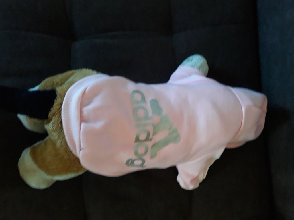 NWT Adidog Hoodie in Light pink size small