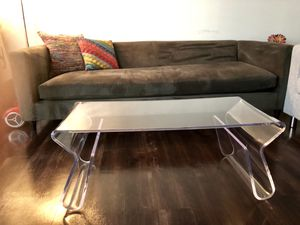 Clear coffee table and side table matching set for Sale in Washington, DC