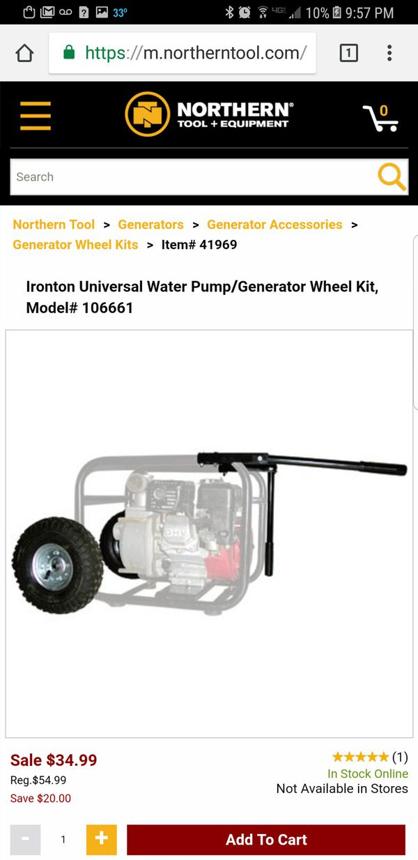 Generator and water pump wheel kit for Sale in Austin, TX - OfferUp