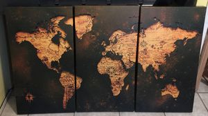 Large Vintage Map Canvas Wrap wall decor for Sale in Modesto, CA