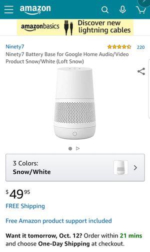 Ninety7 Loft Portable Battery Base For Google Home Snow White Sealed New