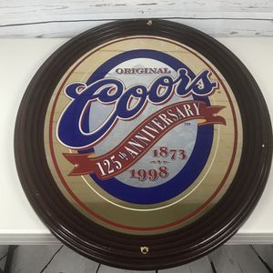 "Original Coors beer mirror sign large oval 29 x 23"" for Sale in Los Angeles, CA"