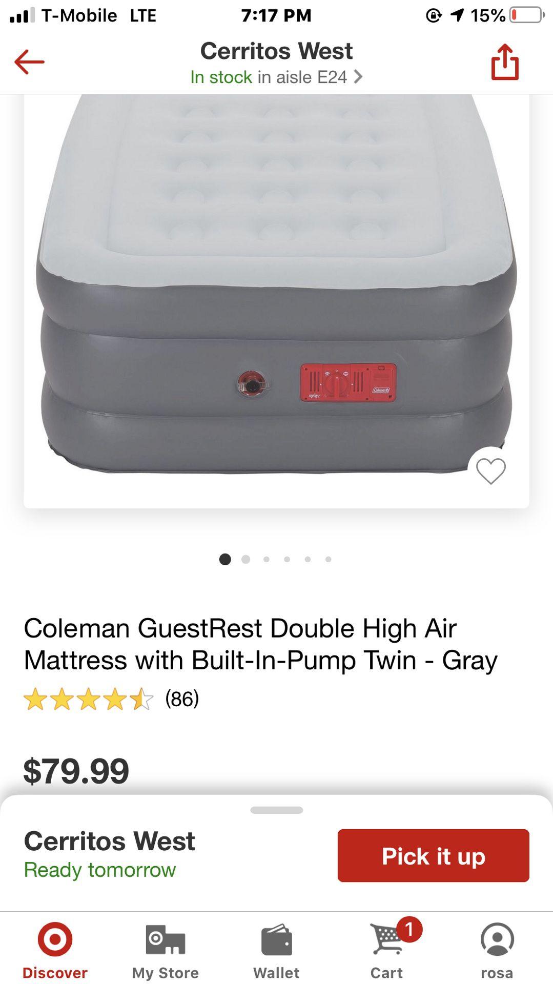 Coleman colchón inflable nuevo 🎯