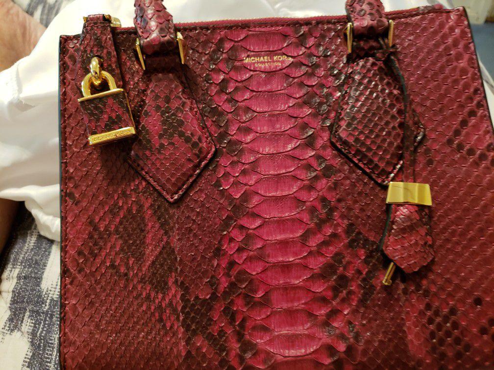 Mk real snake skin sachel