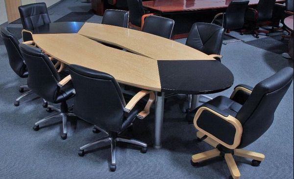 Ft High End Modern Wood Veneer Conference Table Retail - 15 foot conference table